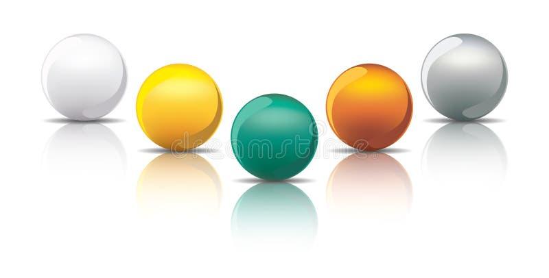 Download Metal spheres stock vector. Image of gold, copper, metallic - 21529141