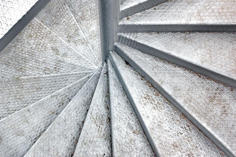 Metal Spiral Staircase. Background and Texture for text or image royalty free stock photography