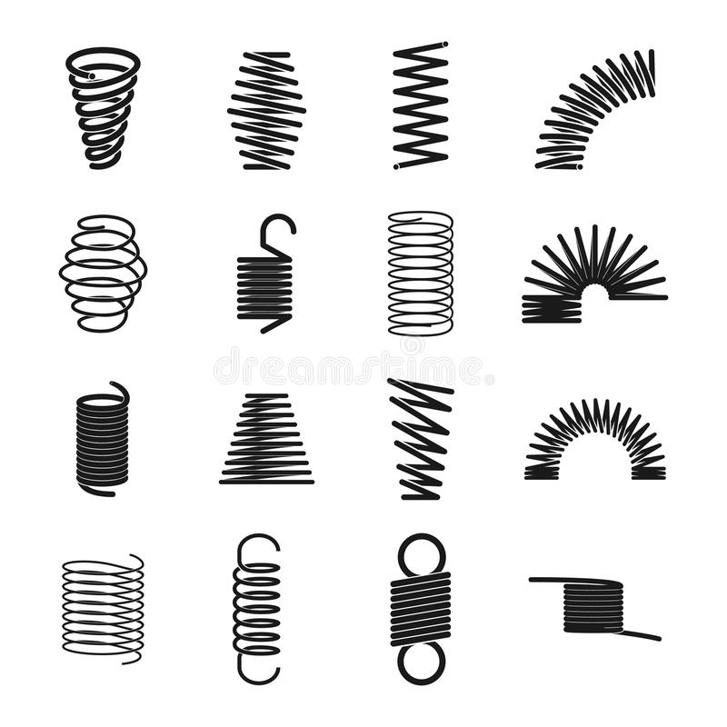 Metal spring icon vector illustration