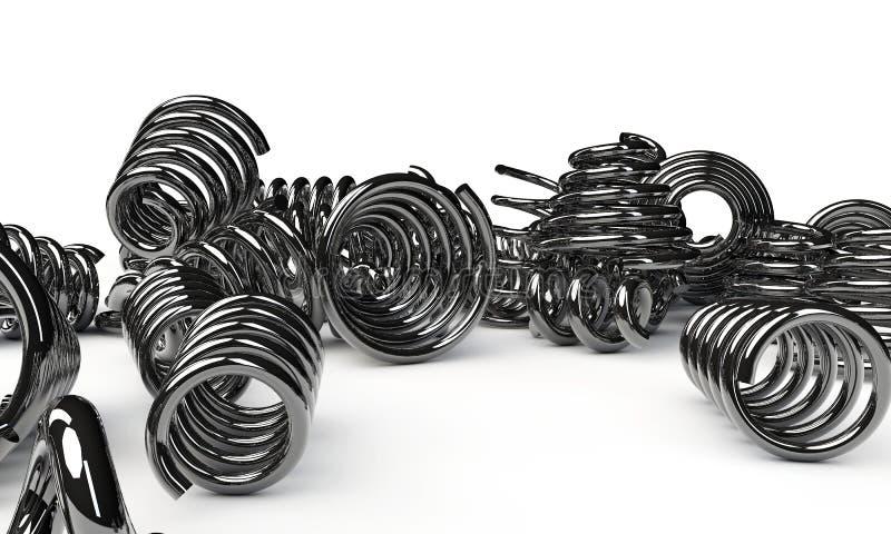 Download Metal springs stock illustration. Illustration of object - 28825948