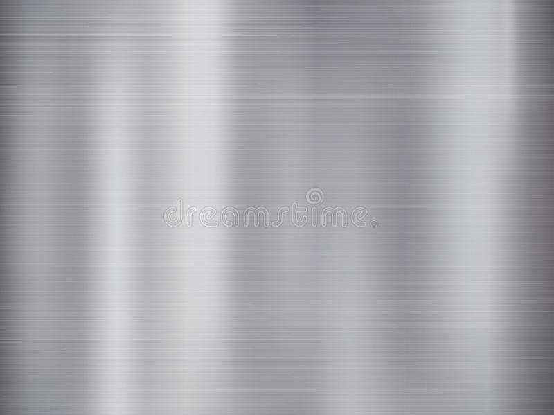 Metal, stainless steel texture background with reflection. Vector Illustration stock illustration