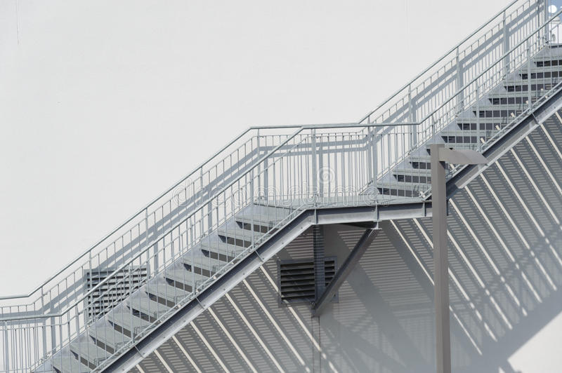 Metal Stairs. As an Contemporary Architectural Element royalty free stock photos