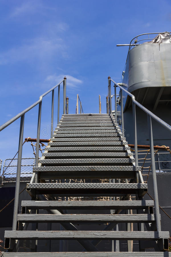 Download Metal Stairs Of Ship Stock Image. Image Of Claim, Hope   26350215