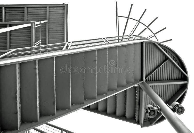 Metal stairway royalty free stock image