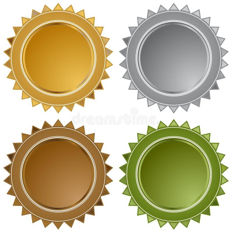 Download Metal Star Seals stock vector. Illustration of burst - 12591550