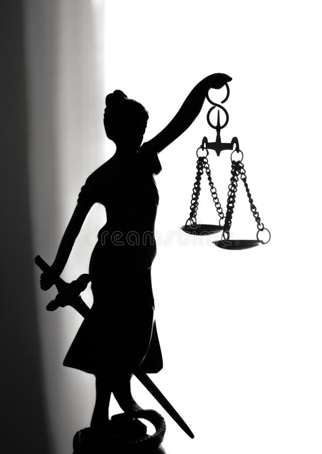 Metal Statue Symbol Of Justice Themis Stock Photo Image Of Metal