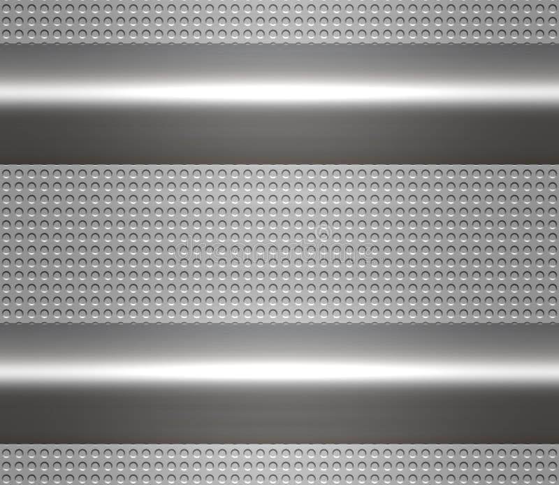 Metal steel or aluminium plate vector illustration