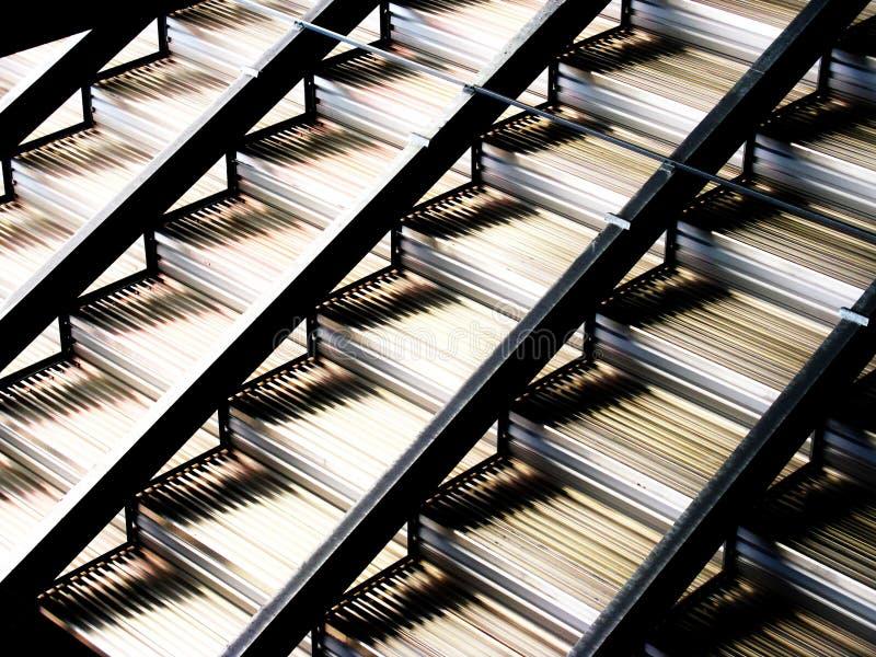 Metal steps royalty free stock photo