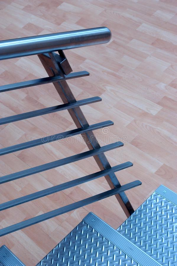 The Metal Steps. stock images