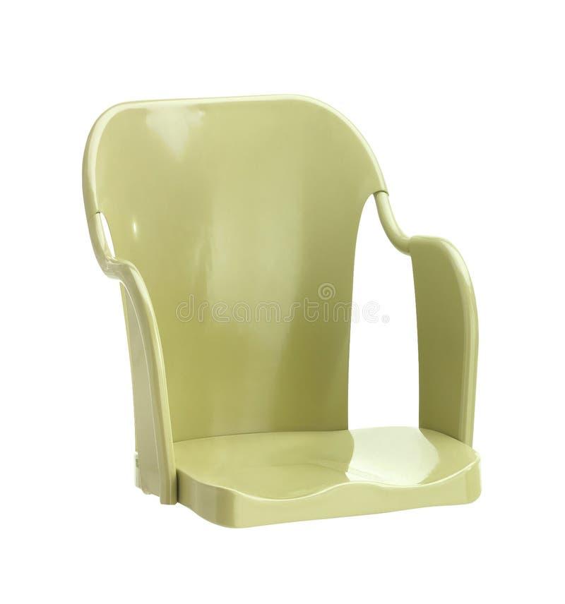 Metal stolec na bielu fotografia stock