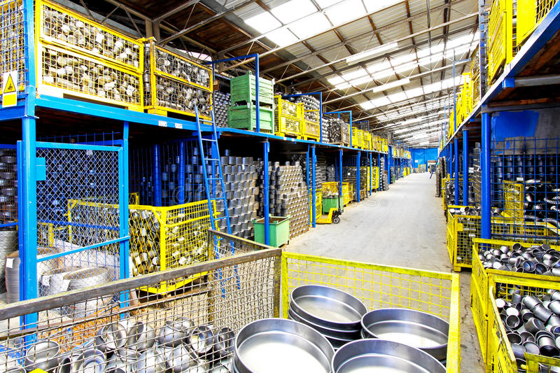 Download Metal storehouse stock image. Image of shelf, production - 11928847