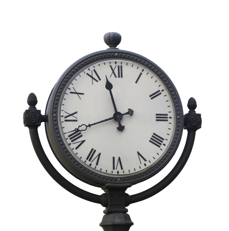 Free Metal Street Clock Royalty Free Stock Image - 16221386