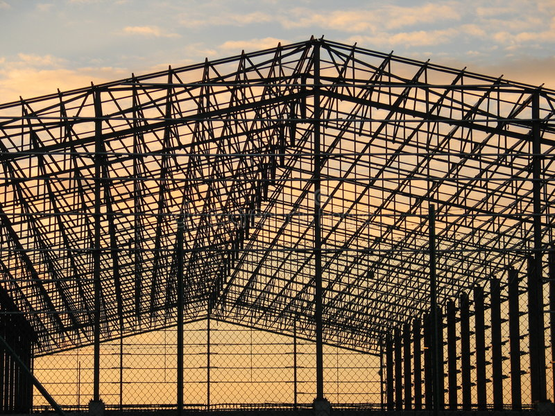 Metal structure stock photo