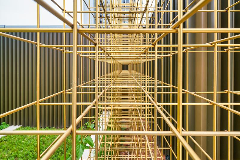 Metal structure stock images