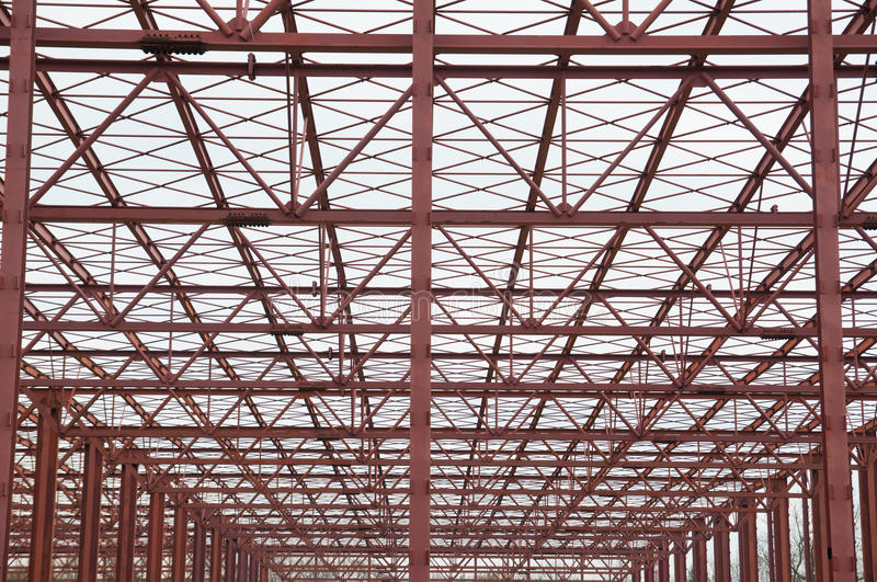 Metal structure. Large metal structure repeating as a background stock photos
