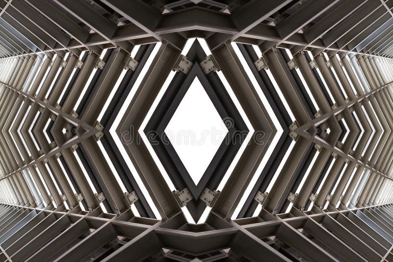 Metal structure similar to spaceship interior.  royalty free stock image