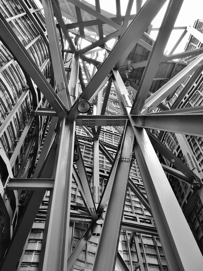 Metal structure stock photography