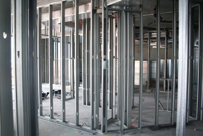 Metal Stud Framing Stock Image. Image Of Construction
