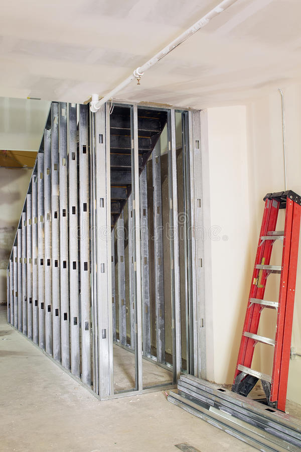 metal studs framing. download metal studs framing for staircase stock photo - image: 26938578