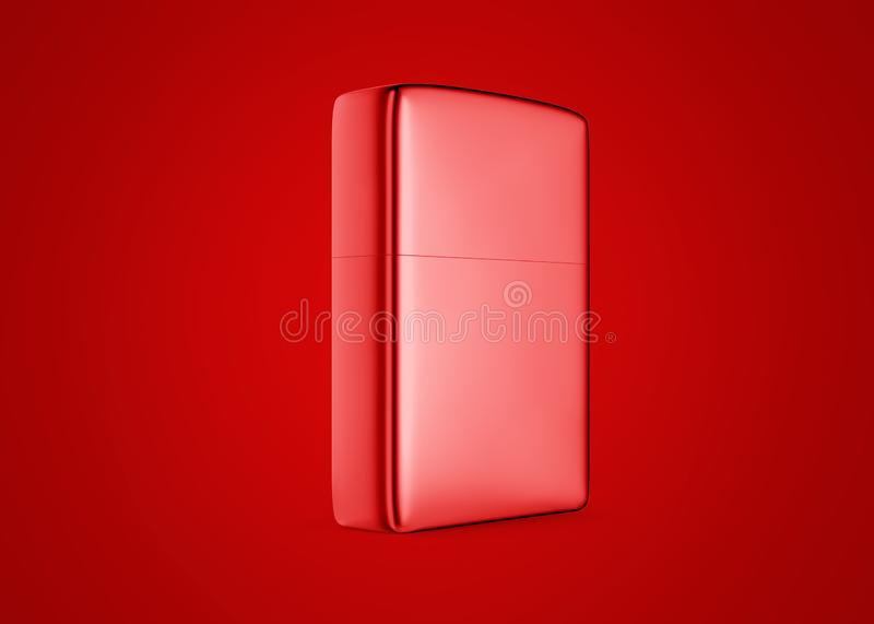 Metal style gasoline lighter. Surface closeup for your design. Windproof lighter isolated on background. royalty free stock images