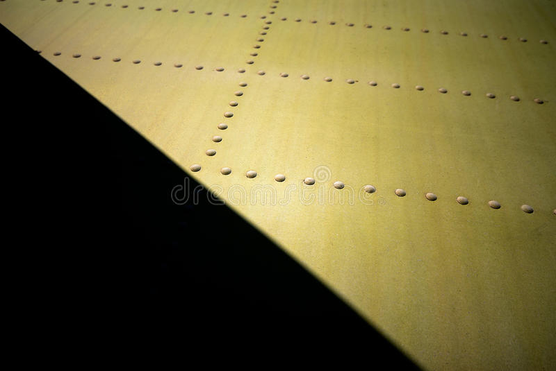 Metal surface. Of the aircraft fuselage stock images