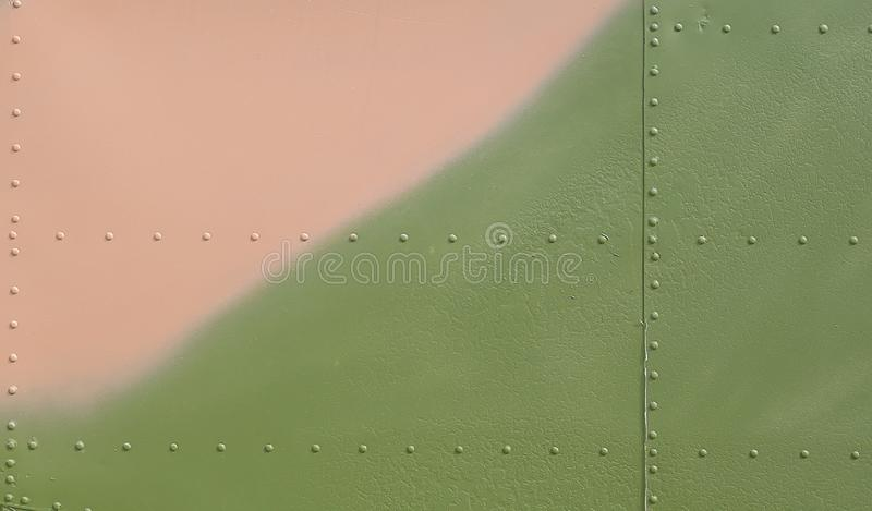Metal surface of military aircraft.  royalty free stock photos