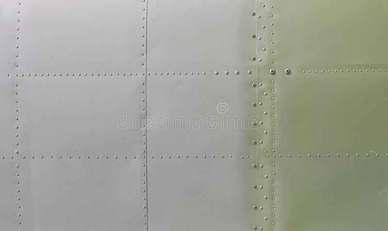 Metal surface of military aircraft.  royalty free stock photo