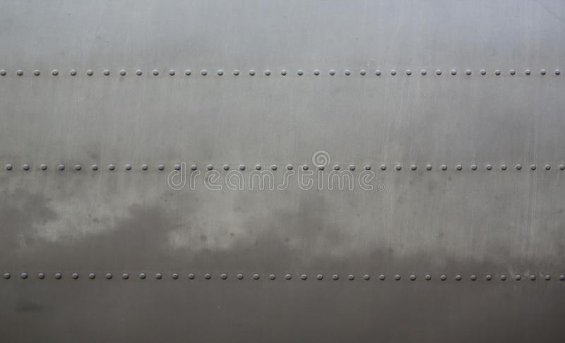 Metal surface of military aircraft.  royalty free stock photography