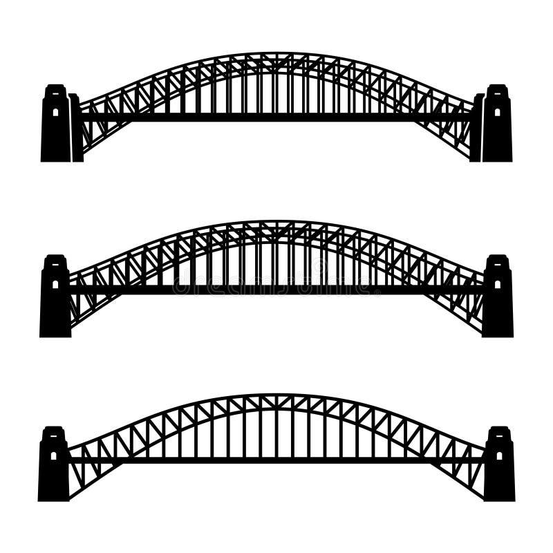 Free Metal Sydney Harbour Bridge Black Symbol Stock Images - 69135984