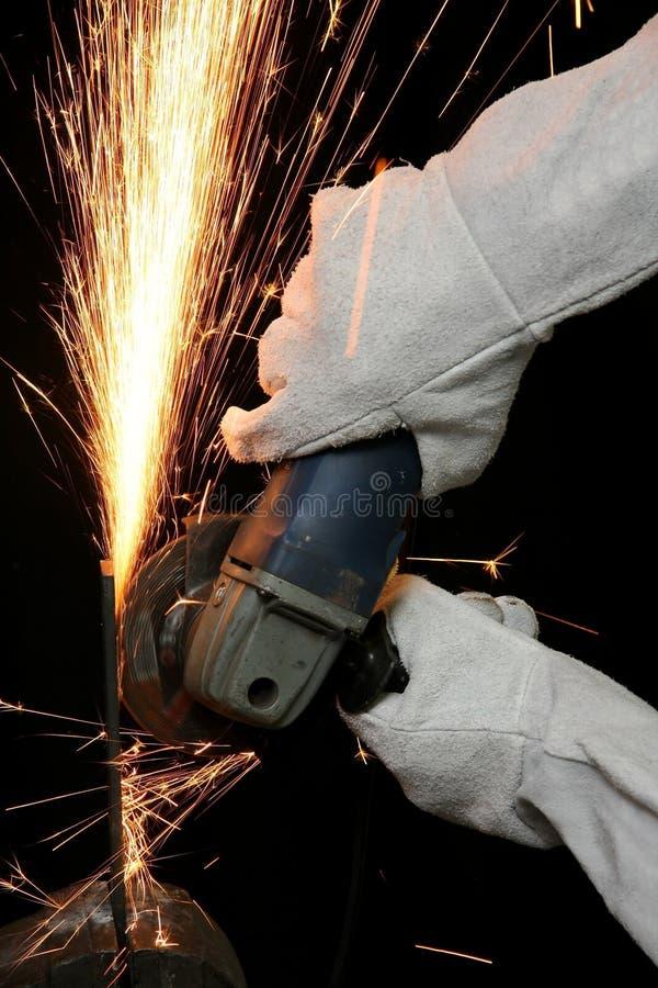 metal szlifierskie iskry zdjęcie royalty free