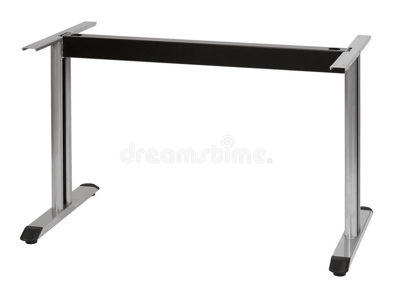 Metal table with two legs silver. Metal table with two legs no desk silver and black vector illustration
