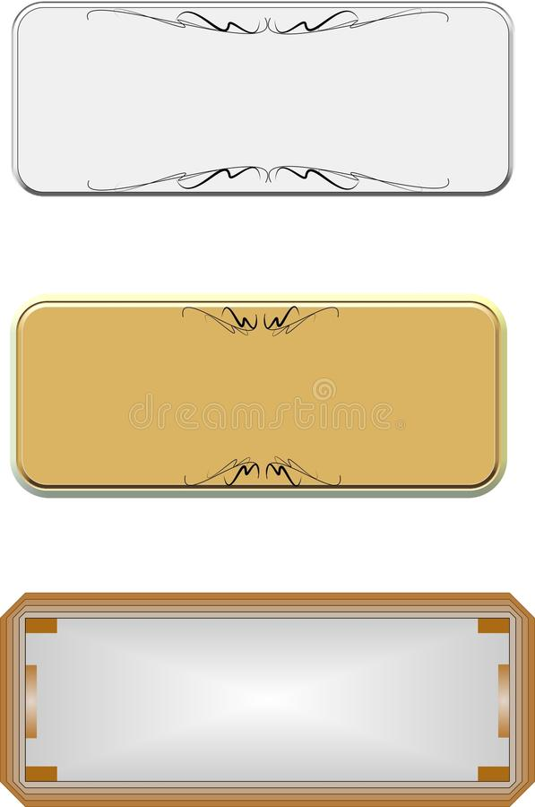Metal tabs on white royalty free illustration