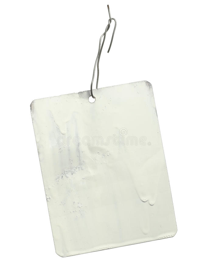 Metal tag label royalty free stock photography