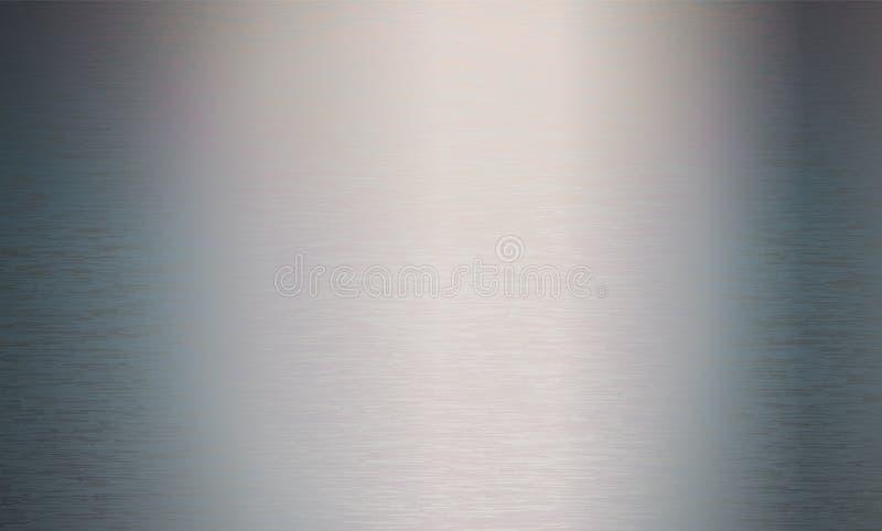 Metal technologii Abstrakcjonistyczny tło Aluminium z okrzesaną, oczyszczoną teksturą, chrom, srebro, stal, dla projektów pojęć,  ilustracja wektor