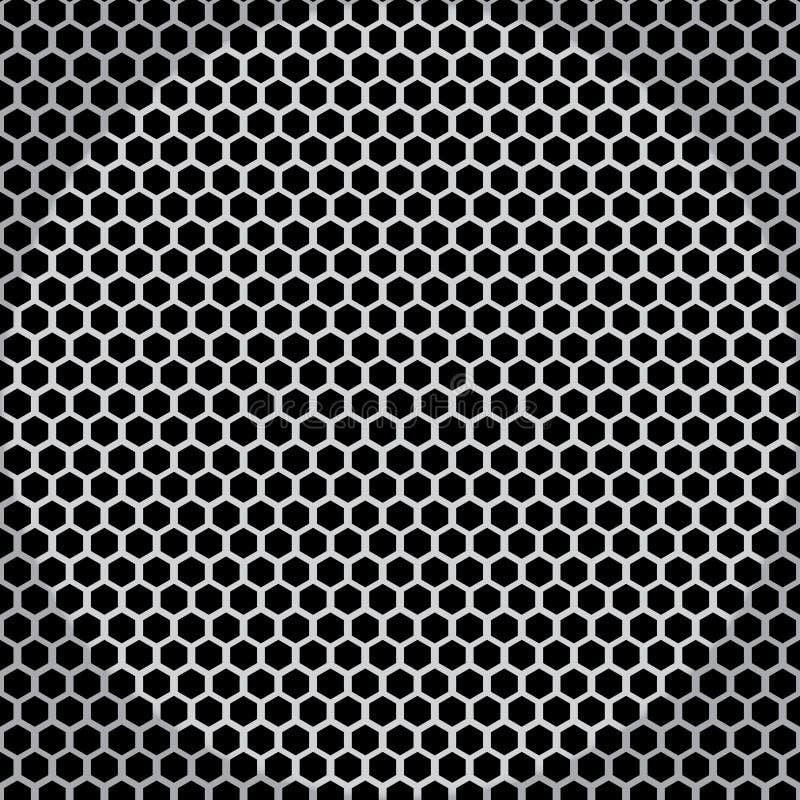 Metal tekstura netto bezszwowa royalty ilustracja