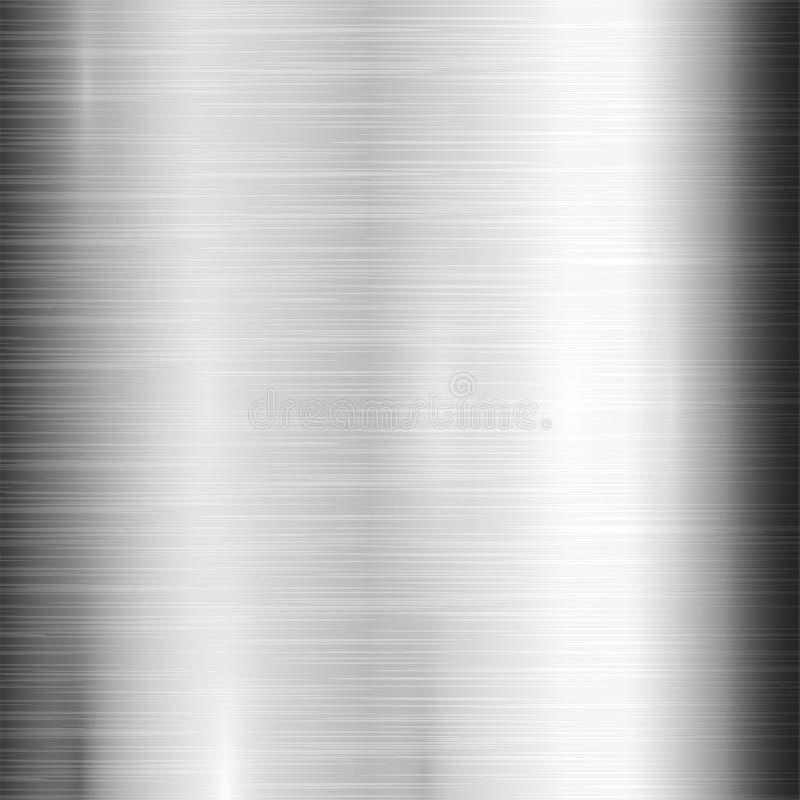 Metal tekstury wzoru tła wektorowego kruszcowego ilustracyjnego tła glansowany skutek ilustracja wektor