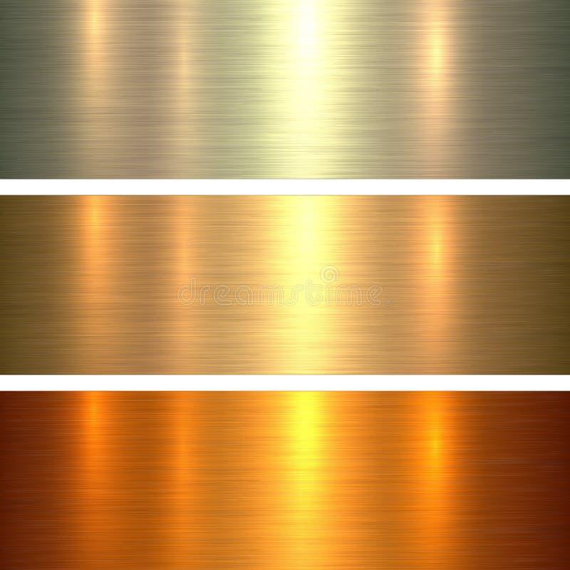 Metal tekstury złocisty tło royalty ilustracja