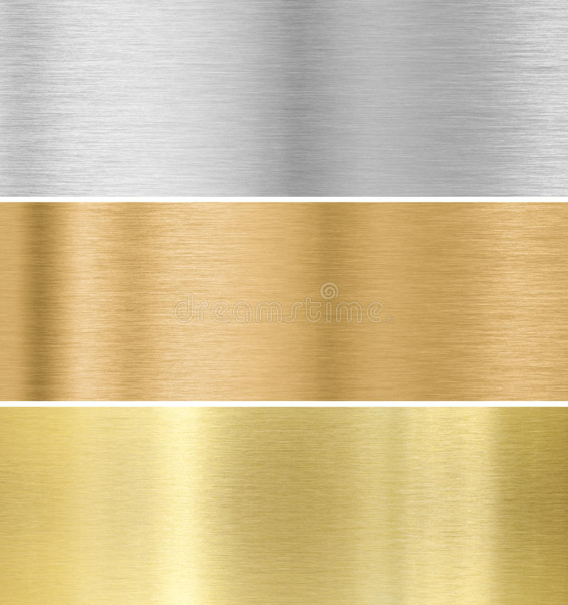 Metal texture background :gold, silver, bronze royalty free illustration