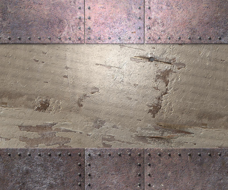 Metal texture background. Metal texture with rivets background 3d illustration royalty free illustration