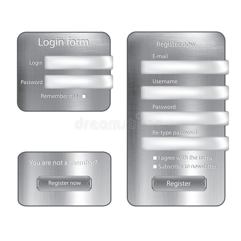metal texture login form stock illustration illustration of mail
