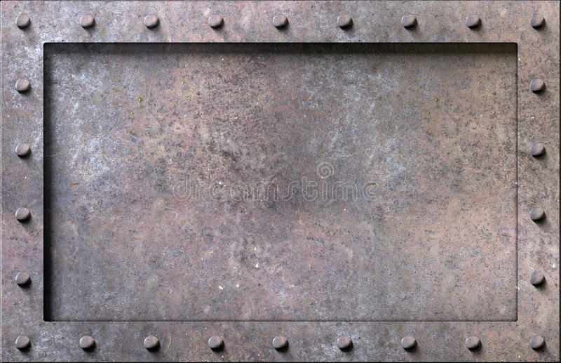 Metal texture with rivets background. Metal texture with plates and rivets background 3d illustration vector illustration