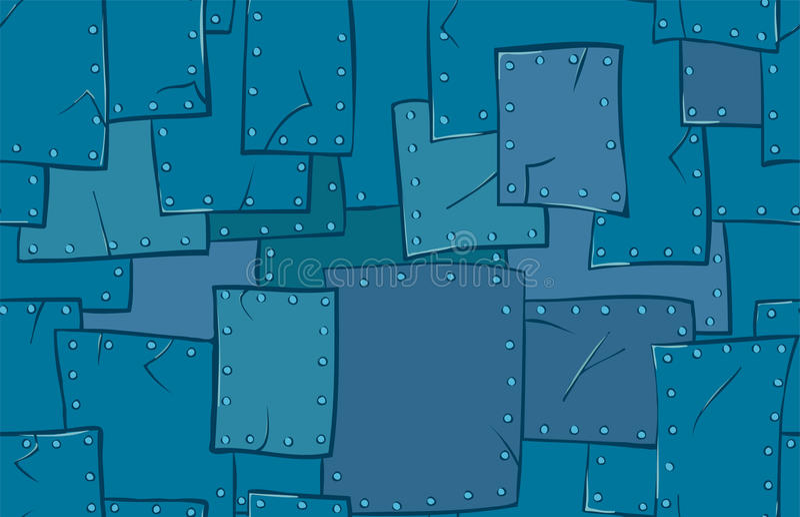 Metal texture. Vector cartoon background stock illustration