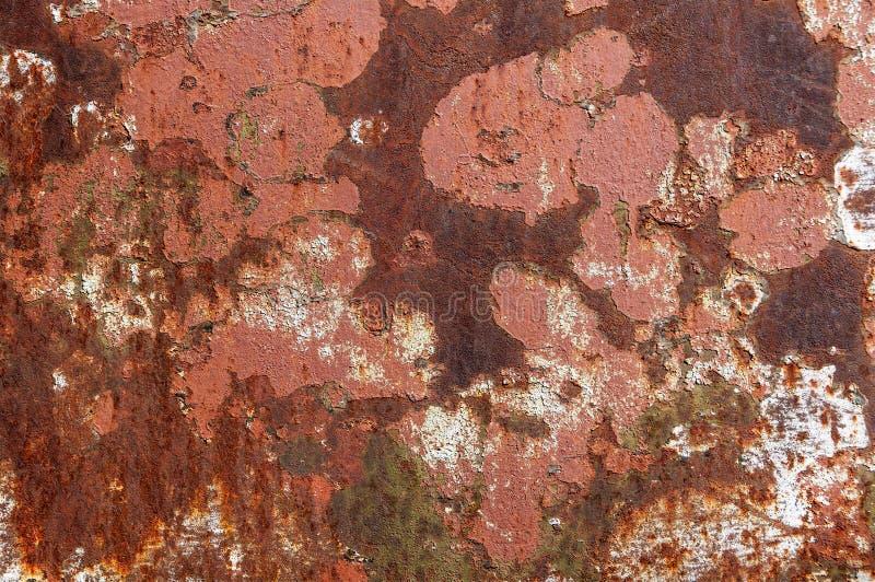Metal textured oxidado lascado da pintura imagens de stock