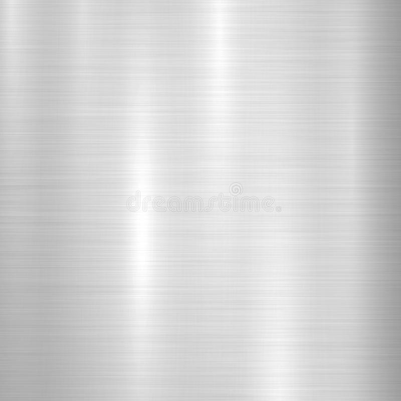 Metal Textured Technology Background. Metal abstract technology background with polished, brushed texture, chrome, silver, steel, aluminum for design concepts vector illustration