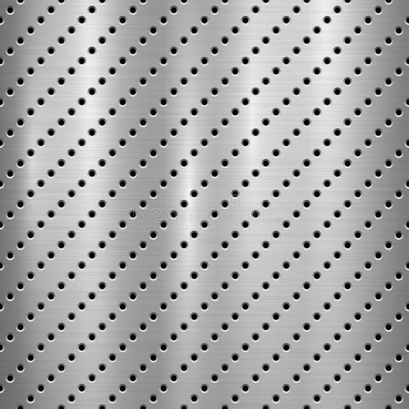 Metal Textured Technology Background with Perforated Pattern royalty free illustration