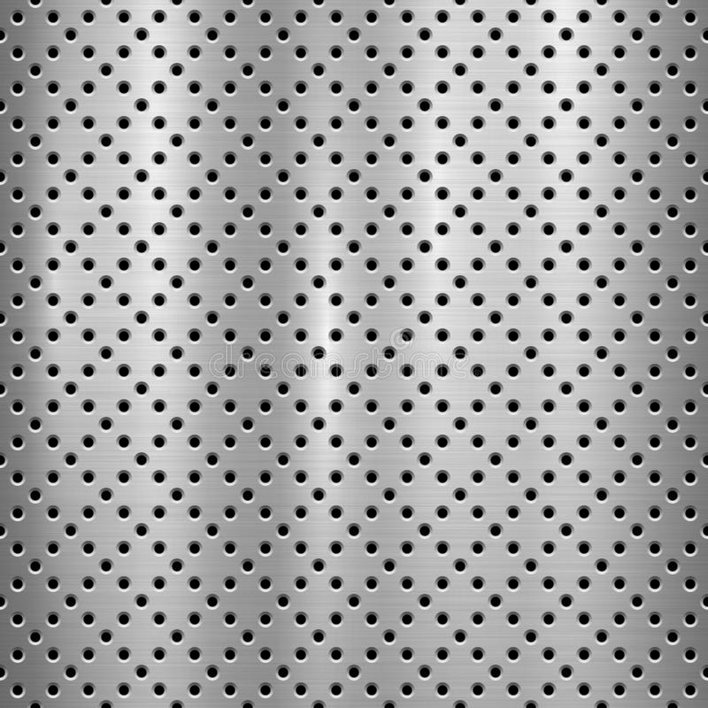 Metal Textured Technology Background with Perforated Pattern vector illustration