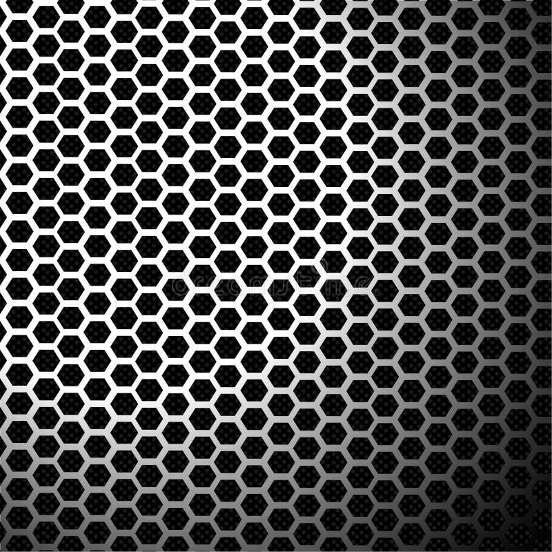 Metal texturerar bakgrund vektor illustrationer