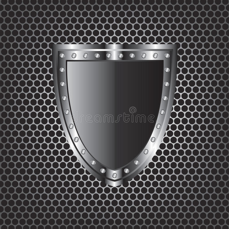 Metal textures and shield stock illustration