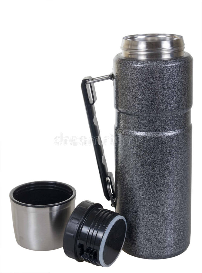 Download Metal thermos stock photo. Image of isolated, insulate - 22950702