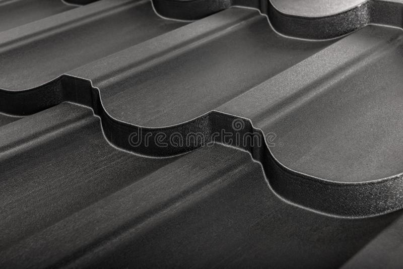 Metal tile isolated. Modern roofing material. Diagonal texture royalty free stock images